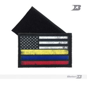 Parche Bandera Colombia-Usa Tactical Flag