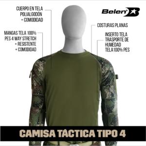 CAMISA TACTICA BELEN EJERCITO 4.0