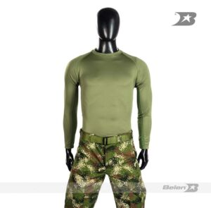 CAMISETA TACTICAL T-SHIRT FS VERDE MANGA LARGA